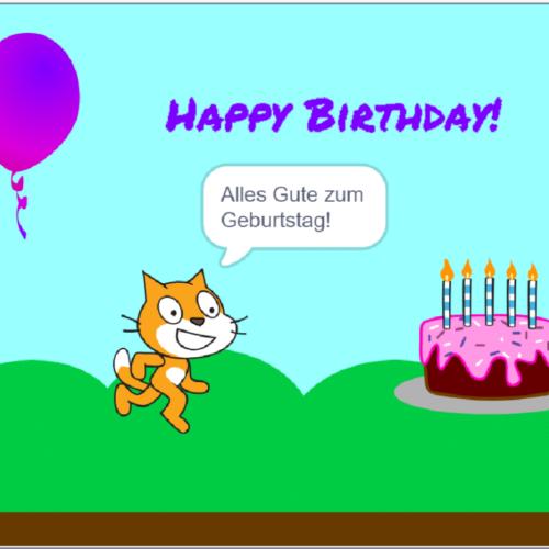 Scratch Geburtstagskarte